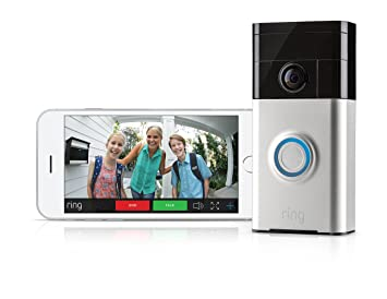 Ring WiFi Enabled Video Doorbell In Satin Nickel  Amazoncom - Front door camera iphone
