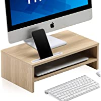 FITUEYES Monitor Stand Riser with Phone Holder Slot, 2 Tiers Laptop Stand with Storage Shelf, Home Office Desk Organizer…