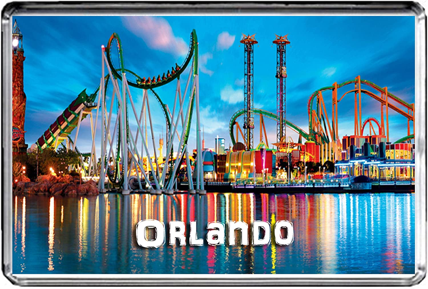 USA E360 ORLANDO FLORIDA FRIDGE MAGNET TRAVEL PHOTO REFRIGERATOR MAGNET