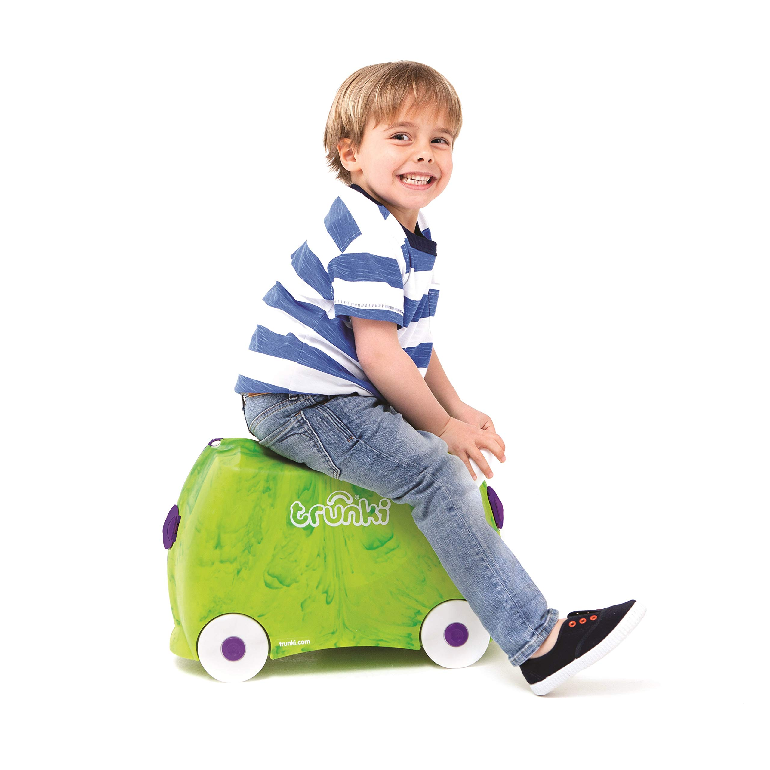 Trunki Original Kids Ride-On Suitcase and Carry-On Luggage - Trunkisauras Rex (Green) by Trunki (Image #6)