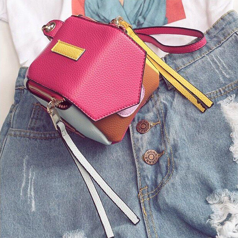Amazon.com: LONGJET Mini Multicolor portafolios de mano para ...