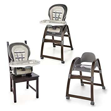 Amazon.com  Ingenuity Trio 3-in-1 Wood High Chair - Tristan - High Chair Toddler Chair and Booster  Baby  sc 1 st  Amazon.com & Amazon.com : Ingenuity Trio 3-in-1 Wood High Chair - Tristan - High ...