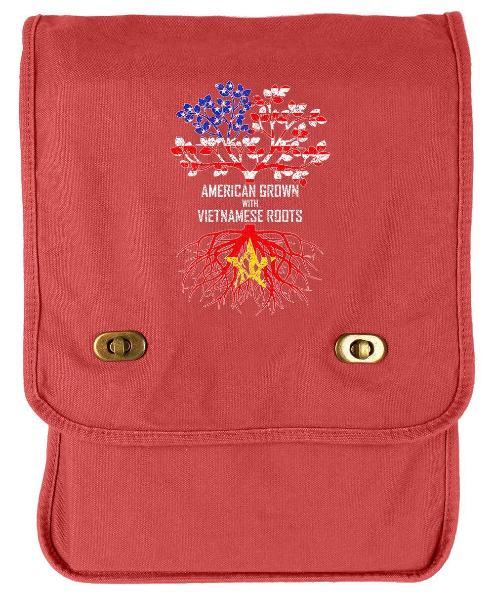 Tenacitee American Grown with Vietnamese Roots Navy Brushed Canvas Messenger Bag