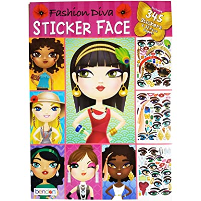 Fashion Diva Sticker Face: Toys & Games