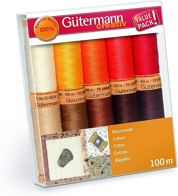 Gütermann Creativ - Juego de 10 rollos de hilo de 100 metros de ...