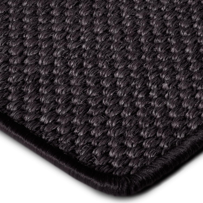 Premium Sisal Teppich Läufer in zahlreichen Größen   anthrazit   mit modern-rustikaler Tiger-Eye-Struktur   kombinierbar mit Stufenmatten (Größe  80x250 cm)