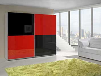 Kleiderschrank Schrank Garderobe Zweitürenschrank Schwebetürenschrank  Schwebetüren 2 Türig Schlafzimmerschrank 244cm MAXI (MAXI 16 (