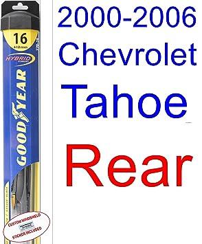 2000 - 2006 Chevrolet Tahoe hoja de limpiaparabrisas de repuesto Set/Kit (Goodyear limpiaparabrisas blades-hybrid) (2001,2002,2003,2004,2005): Amazon.es: ...