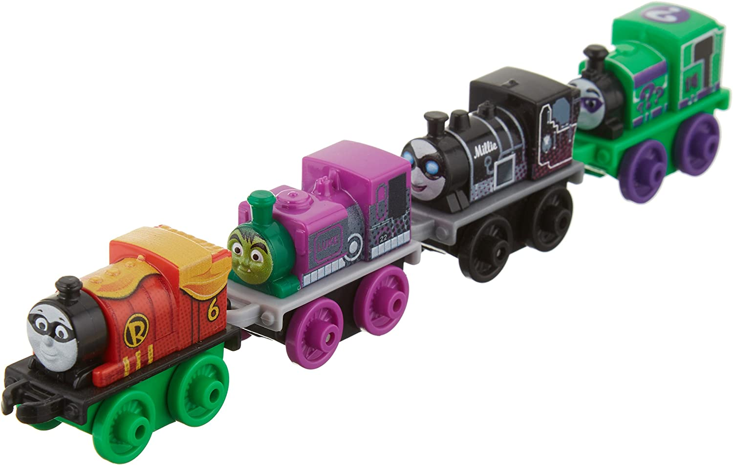 Lot of 2 Fisher-Price 4 Pack Thomas the Train DC Super Friends Characters
