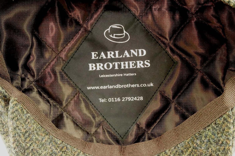 be725f5d07 Failsworth English Tweed Cap Earland Brothers Hats 100% Merino Lambswool  Abraham Moon- Green