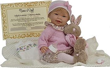 Muñeca Tita Reborn con accesorios, preciosa muñeca con un peso aproximado de 1,5kg y con cuerpo articulado. Incluye pañal, chupete con cadena, manta y biberón: Amazon.es: Juguetes y juegos