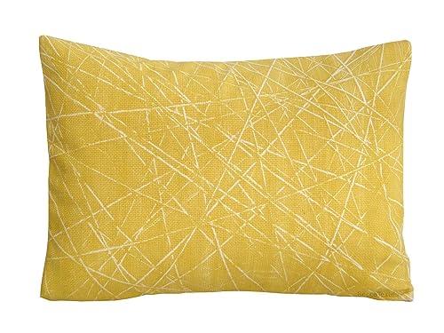 Cojín amarillo 30 x 40 cm, funda de cojín estampado ...