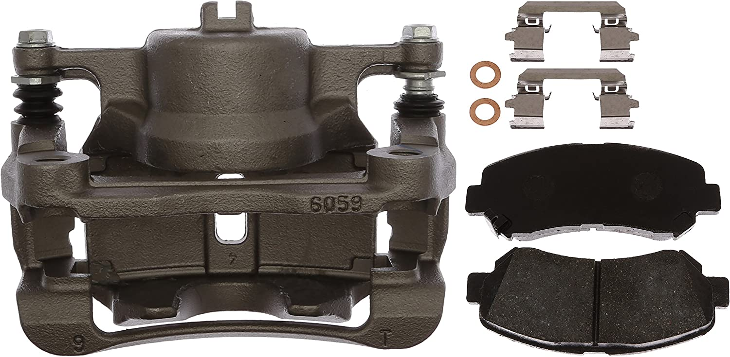 Remanufactured Loaded ACDelco 18R12557 Professional Front Driver Side Disc Brake Caliper Assembly with Pads