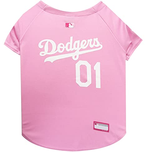 4c5c33a32b6 Amazon.com   MLB Jersey for Dogs - LA Dodgers Pink Jersey