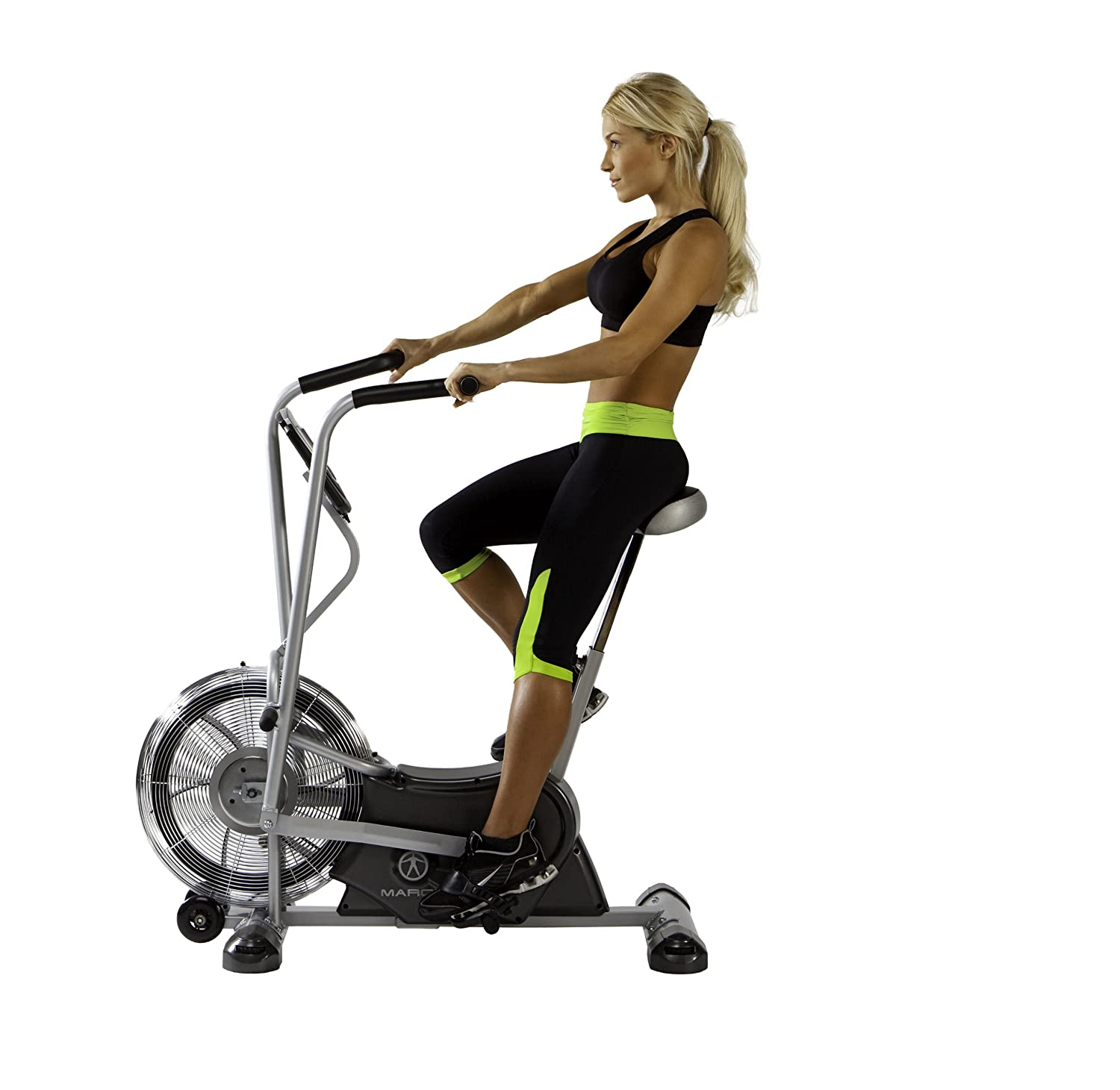 fan exercise bike. amazon.com : marcy exercise upright fan bike for cardio training and workout air-1 bikes sports \u0026 outdoors x