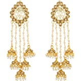 The Luxor Stunning Gold Plated Jhumki Earrings For Women