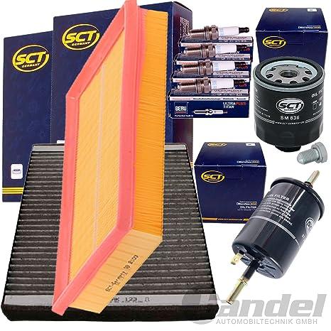 Juego de filtros inspektionskit 4 Beru Bujía 1 filtro de aire 1 filtro, Interior Aire