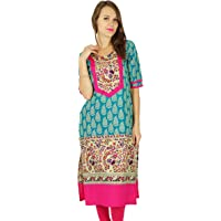 Phagun Indian Designer Bollywood Kurta Women Ethnic Kurti Cotton Tunic Dress