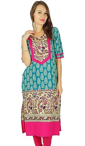 Phagun diseñador indio de Bollywood Kurta Mujeres étnico Kurti algodón vestido de la túnica