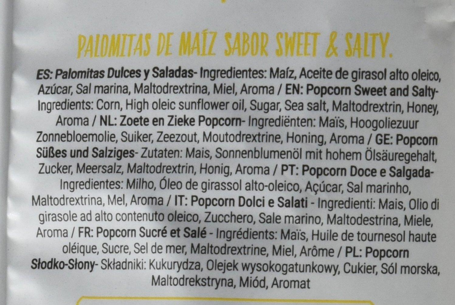 Anaconda Palomitas de Maíz Explotadas con Aire Caliente- Paquete de 6 x 30 gr - Total: 180 gr, sabor Sweet y Salty: Amazon.es: Alimentación y bebidas