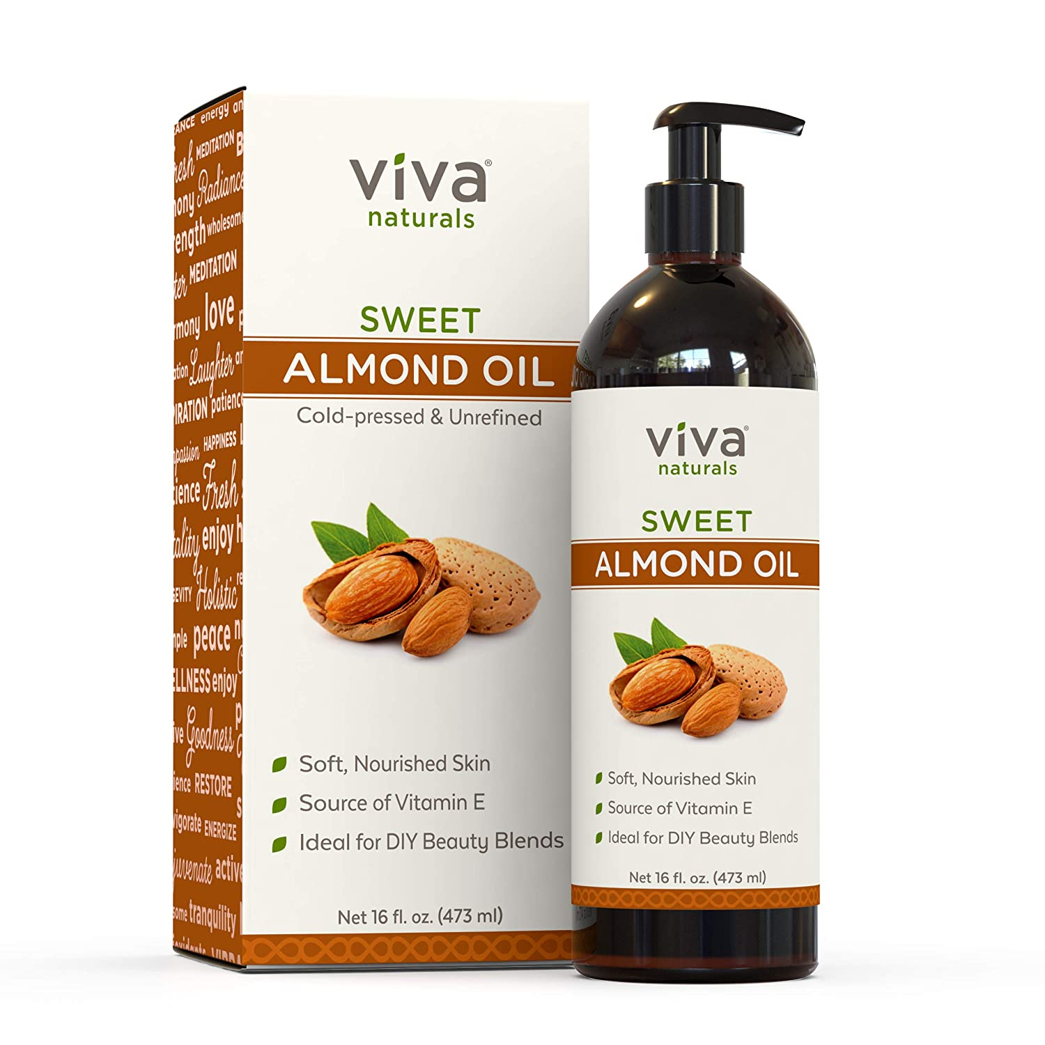 Best Sweet Almond Oil by Sky Organics 16oz- 100/% Pure Cold-Pressed Organic Almond Oil. Great As Baby Oil- Anti- Wrinkles- Anti-Aging. Almond Oil- Carrier Oil for Massage. Bath Pearl /& Flakes