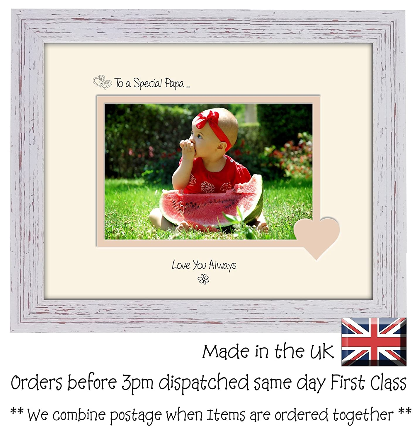 Papa Photo Frame Special Papa Love You Always Double Mounted Quality ...