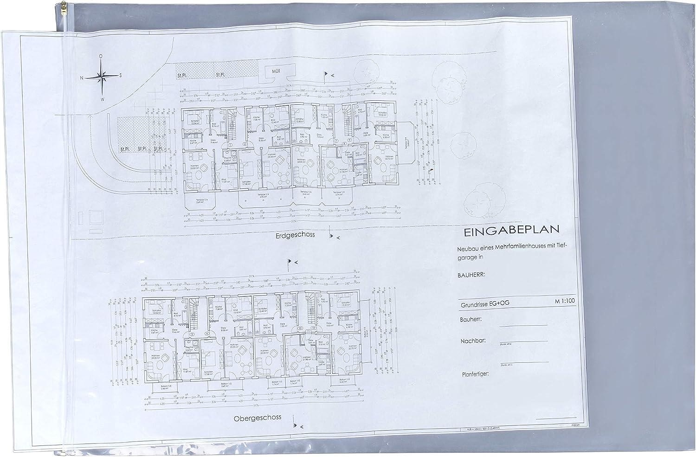 Fundas protectoras para planos 640 x 900 mm paquete de 10 fundas ...
