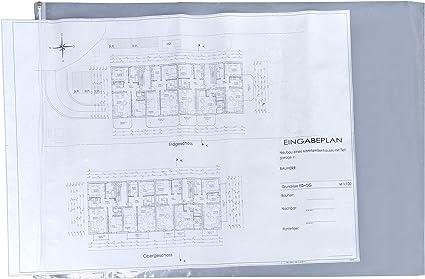 Fundas protectoras para planos 640 x 900 mm paquete de 10 fundas para planos fundas de