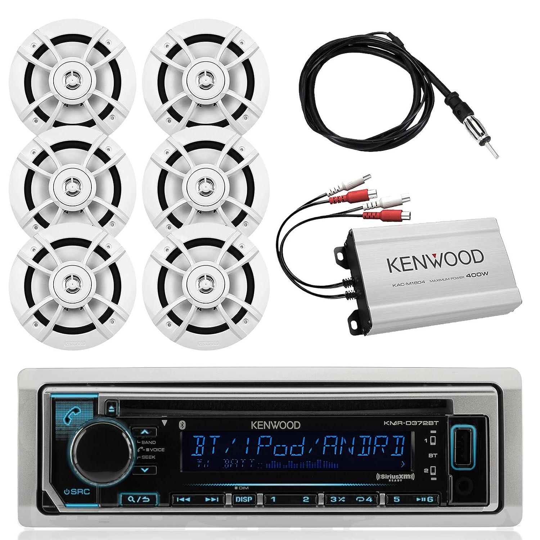 Kenwood MarineアウトドアBluetoothステレオCD mp3プレーヤーUSB iPhone AM/FM受信機、Kenwood 6.5