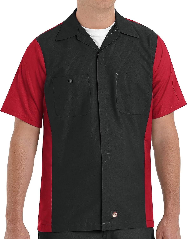 Red Kap Men's Rip-stop Short-sleeve Crew Shirt: Clothing