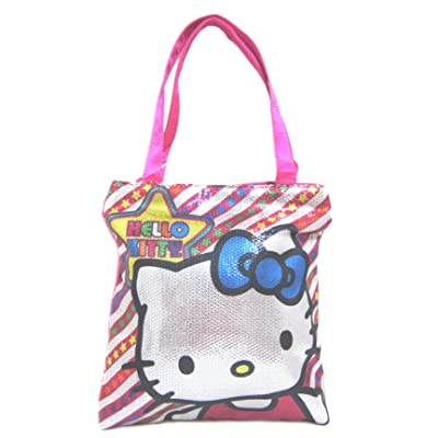 Hello Kitty Metallic Pop Tote Bag, Pink Multi