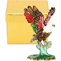 Eagle Figurine, Eagle Model Craft Home Ornament Beautiful Eagle Ornaments Eagle Desk Decor Eagle Metal Crafts for Homes…
