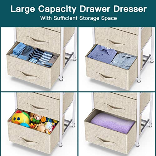 3 Drawer Fabric Dresser Storage Tower