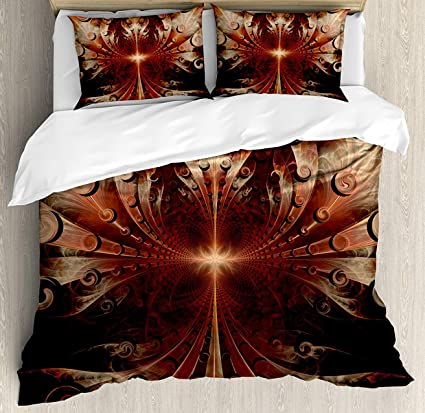Fractal Bed Set Gothic Medieval Heraldic Ornamental Background Middle Age  Knight Aged Artwork Print Bedding Sets