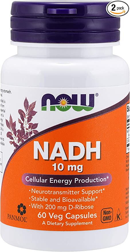Now Foods NADH with Ribose, 10 mg, 60 Vcaps