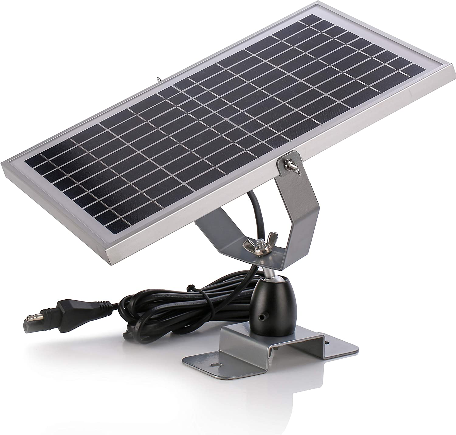 SUNER POWER 12V Waterproof Solar Battery Trickle Charger & Maintainer - 10 Watts Solar Panel