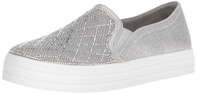 Skechers Women's Double up-Diamond Dancer Sneaker B0786T7RW6 10 B(M) US|Sil