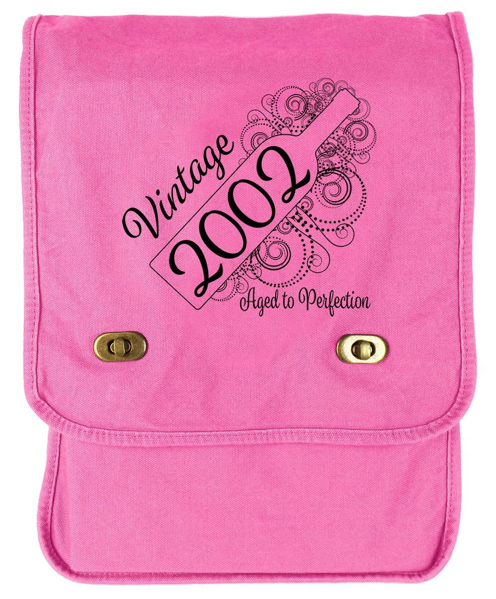 Aged Like a Fine Wine Flamingo Raw Edge Canvas Messenger Bag Tenacitee Born in 2002
