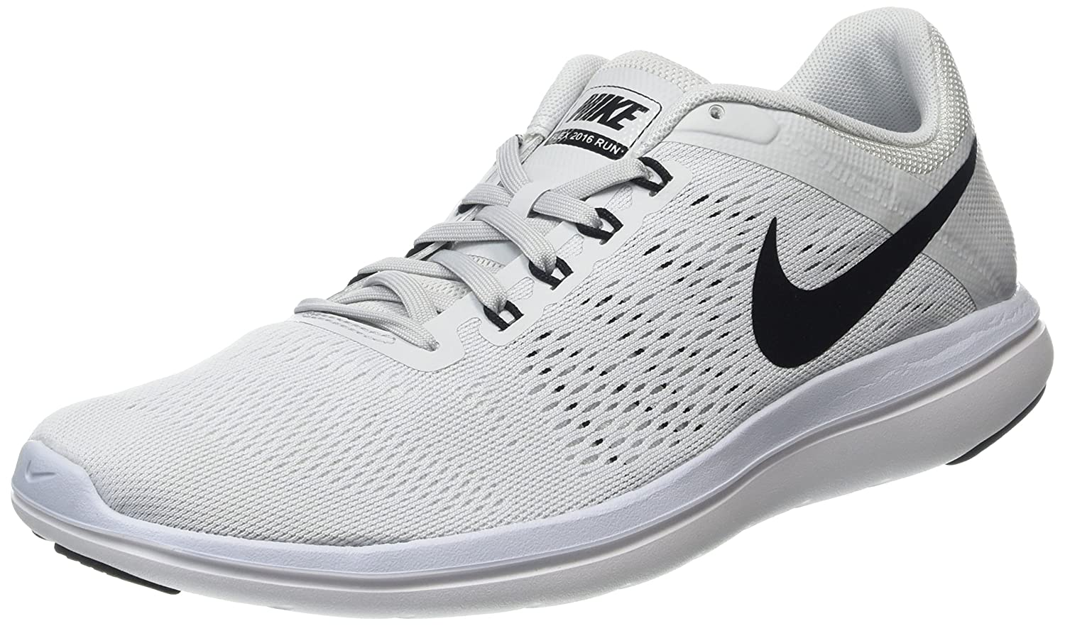 NIKE Women's Flex 2016 Rn Running Shoes B014ECEJYM 6 B(M) US|Pure Platinum/Black White