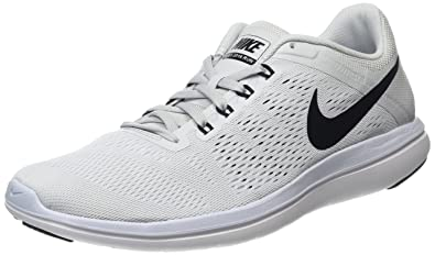 more photos 4c589 fbc48 Nike Women s Flex 2016 RN Running Shoe, Pure Platinum White Black, 8.5