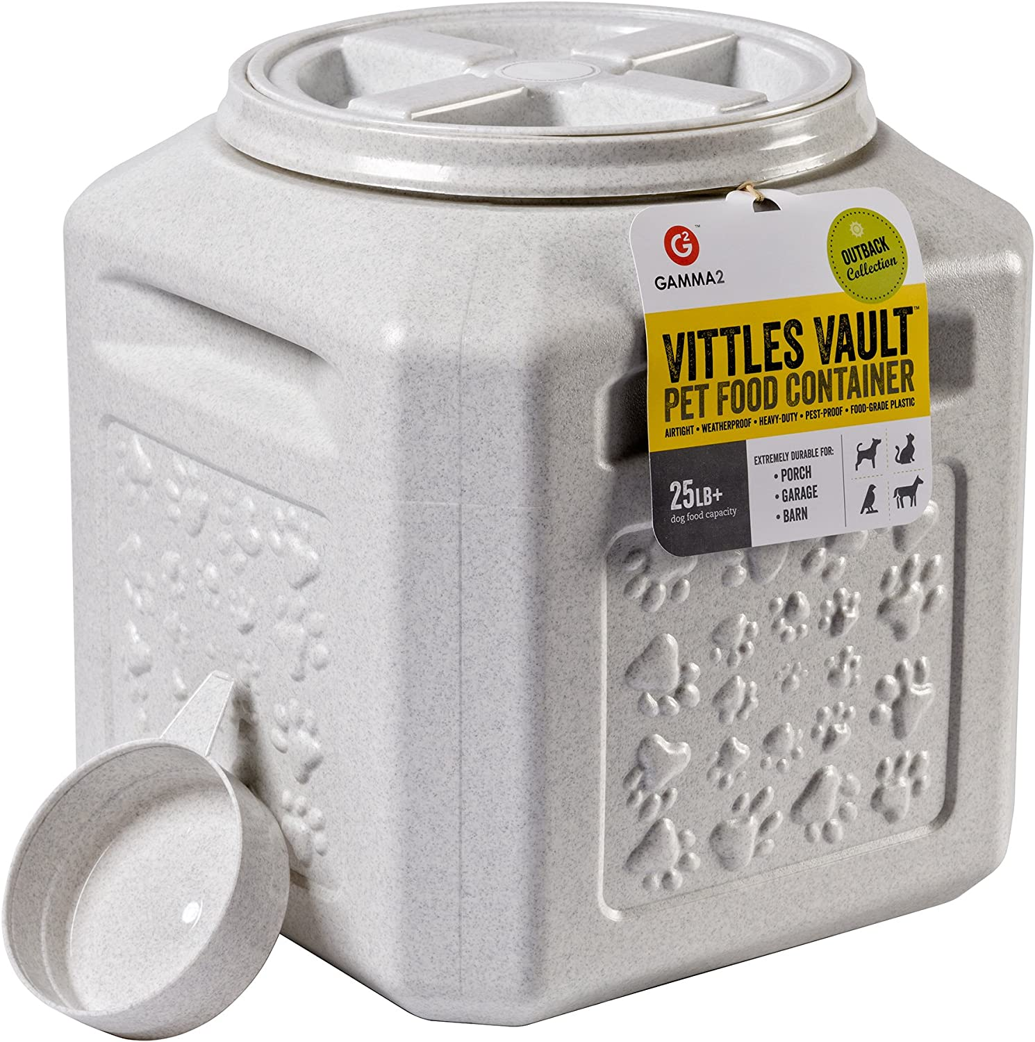 Pet Supplies : Vittles Vault Outback 25 lb Airtight Pet Food Storage Container : Pet Food Storage Products :
