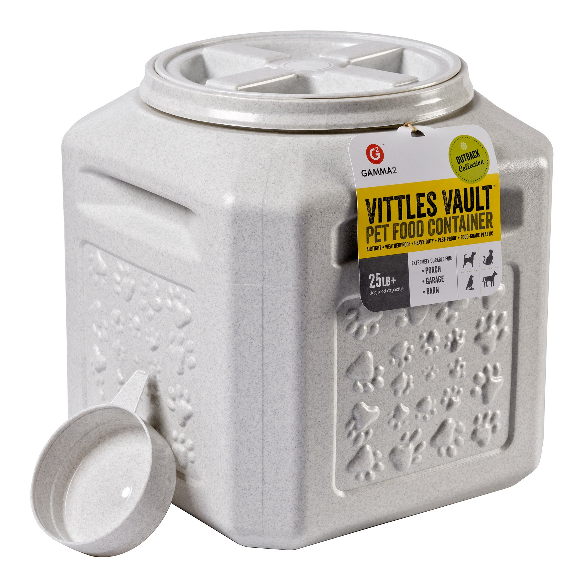 Vittles Vault Outback 25 lb Airtight Pet Food Storage Container by Gamma2