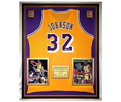 best service d44af 09527 Premium Framed Magic Johnson Autographed/Signed Los Angeles ...
