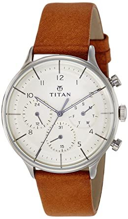 0a896cdcb92 Image Unavailable. Image not available for. Colour: Titan Classique Analog  Silver Dial Men's Watch ...