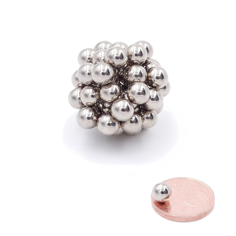 Brudazon | 25 Mini Magneti Sfera da 5mm | magneti in neodimio Ultra potenti - N38 | magneti per modellismo, Foto, lavagne magnetiche | Piccoli ed Extra potenti