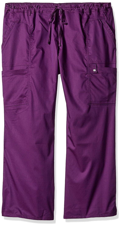eaf09a47f77 Amazon.com  Cherokee Women s Petite-Plus-Size Jr. Fit Low-Rise Drawstring Cargo  Pant