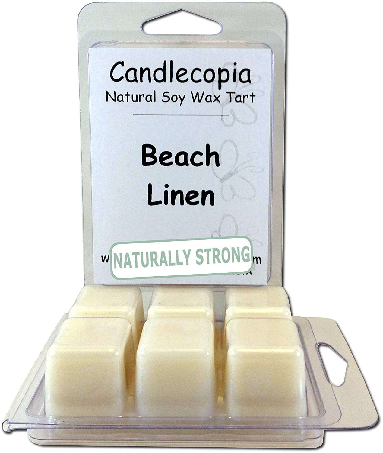 Candlecopia Baby Powder 6.4 oz Scented Wax Melts - This classic powdery, floral fragrance evokes memories of a sweeter, simpler time - 2-Pack of naturally strong scented soy wax cubes throw 50+ hours of fragrance when melted in Scentsy®, Yankee Candle® or