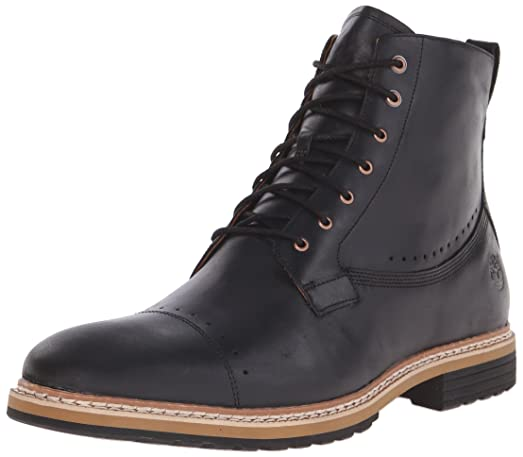 Timberland Men's West Haven 6 Inch Side-Zip Boot, Black Full Grain, 9.5