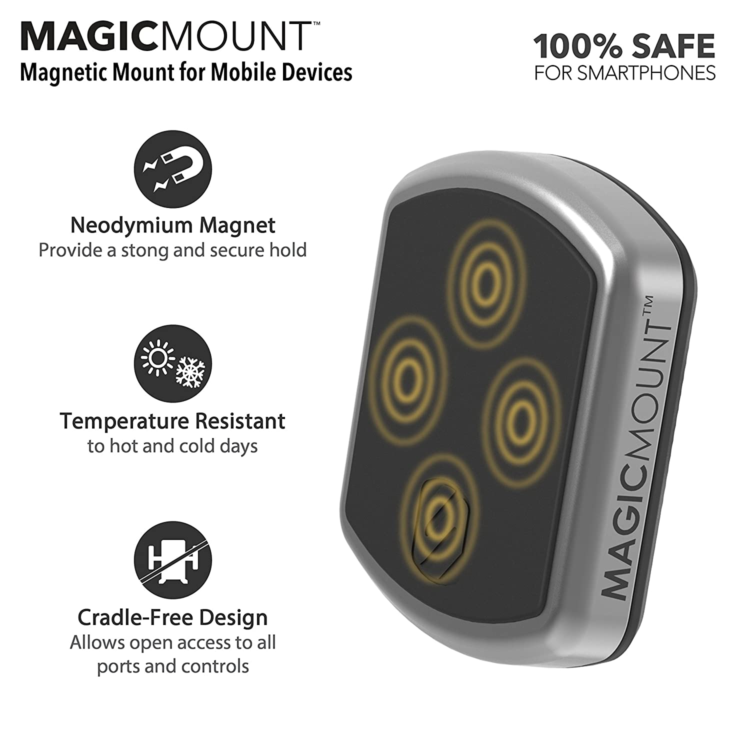 SCOSCHE MP12V MagicMount Magnetic Phone//GPS Power Outlet Mount for the Car MP12V-XTSP1