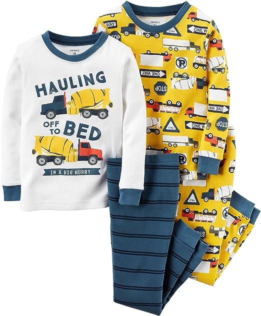 84b195079 Amazon.com  Carter s Baby Boys  4-Piece Snug Fit Cotton Pajamas (6 ...